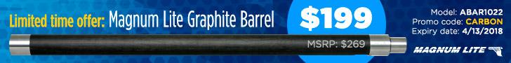 Limited time offer: Magnum Lite Graphite Barrel - $199 - Offer ends on April 13, 2018